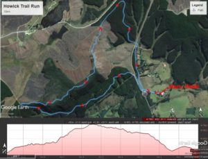 KZNTR Howick Trail Route and Profile 10km