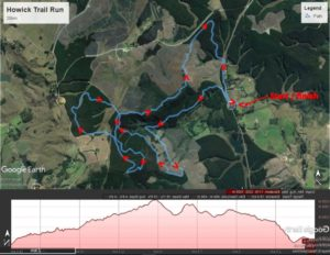 KZNTR Howick Trail Route and Profile 20km