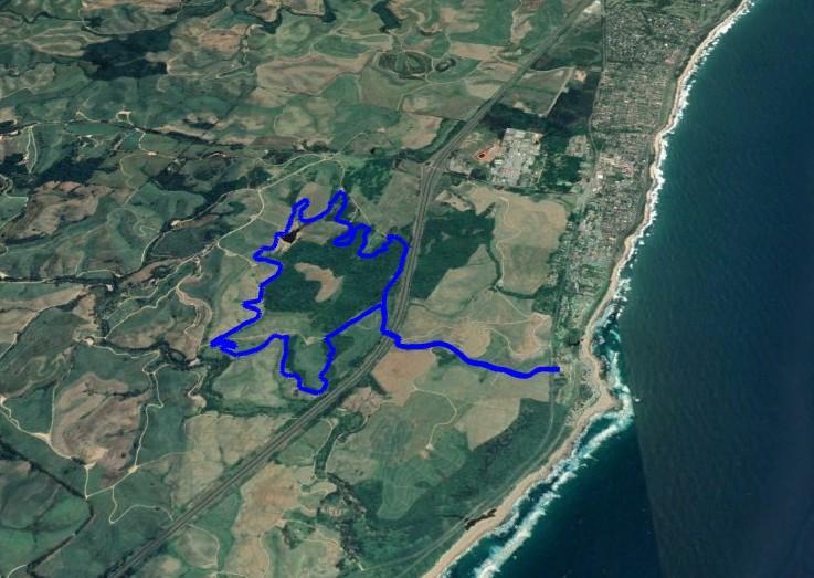 KZNTR Rocky Bay Mar19 - 12km Course Route