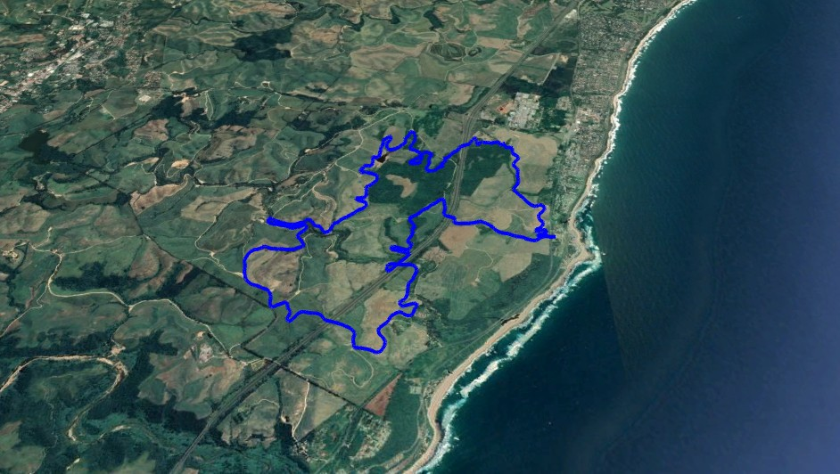 KZNTR Rocky Bay Mar19 - 19km Course Route