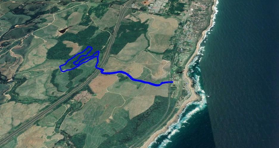 KZNTR Rocky Bay Mar19 - 6km Course Route