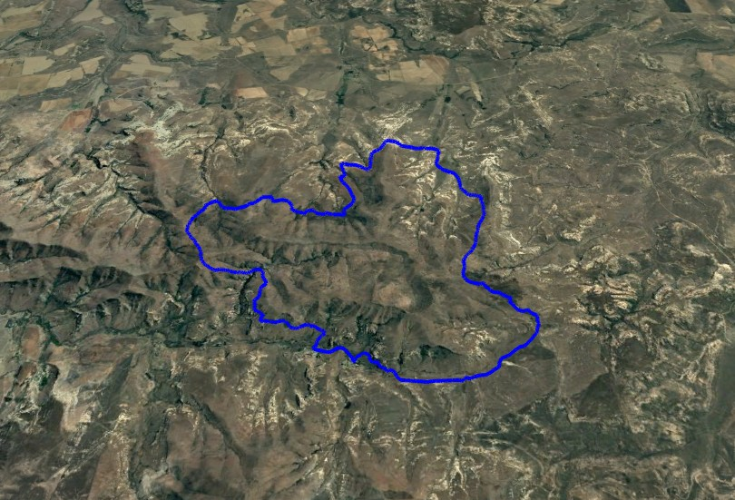 KZNTR WildSeries Golden Gate - Day 2 29km Course Route