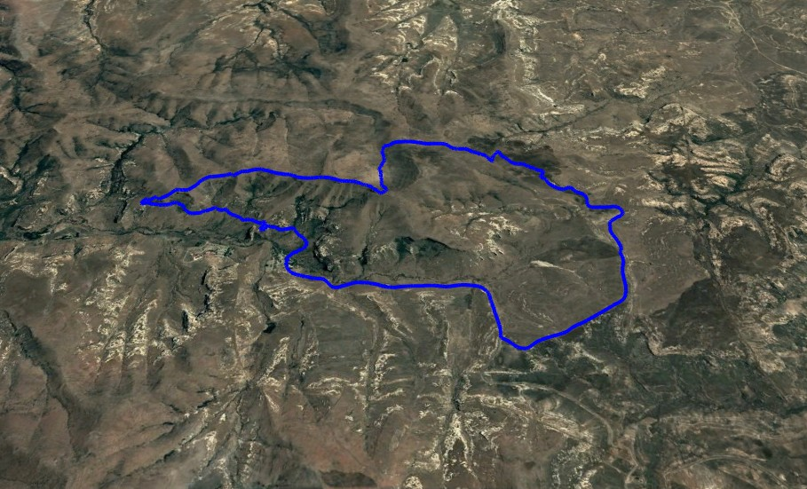 KZNTR WildSeries Golden Gate - Day 3 17km Course Route