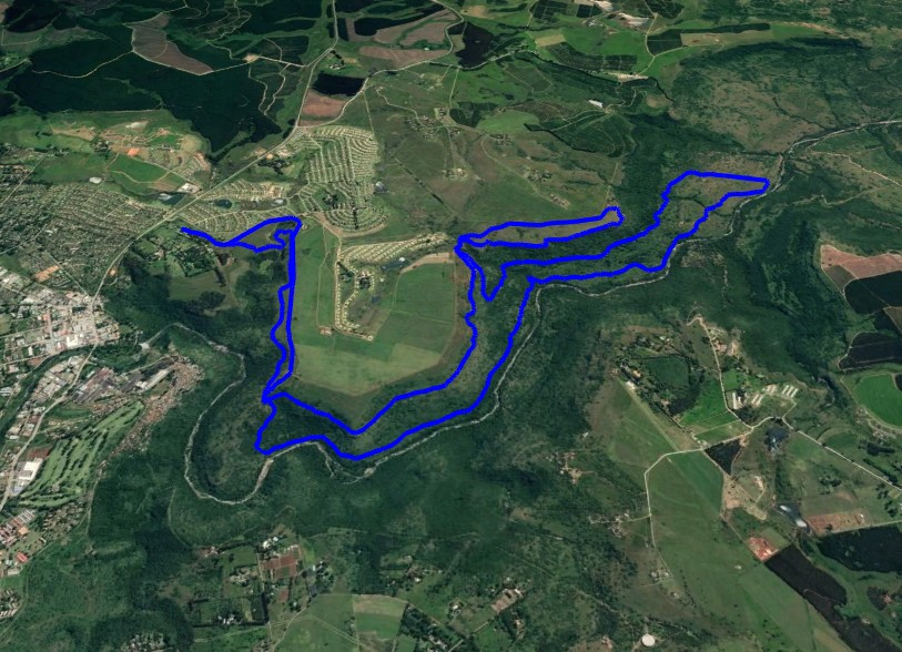 KZNTR WESSA Trail Run Apr19 - 20km Course Route