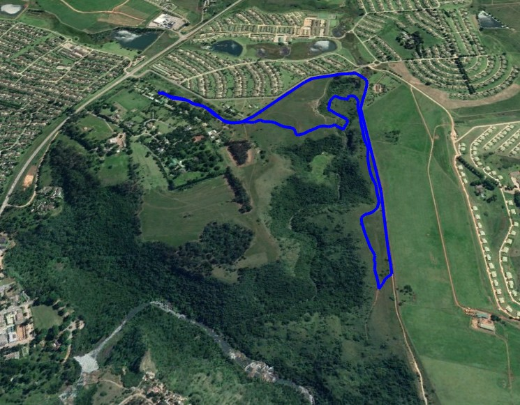 KZNTR WESSA Trail Run Apr19 - 5km Course Route