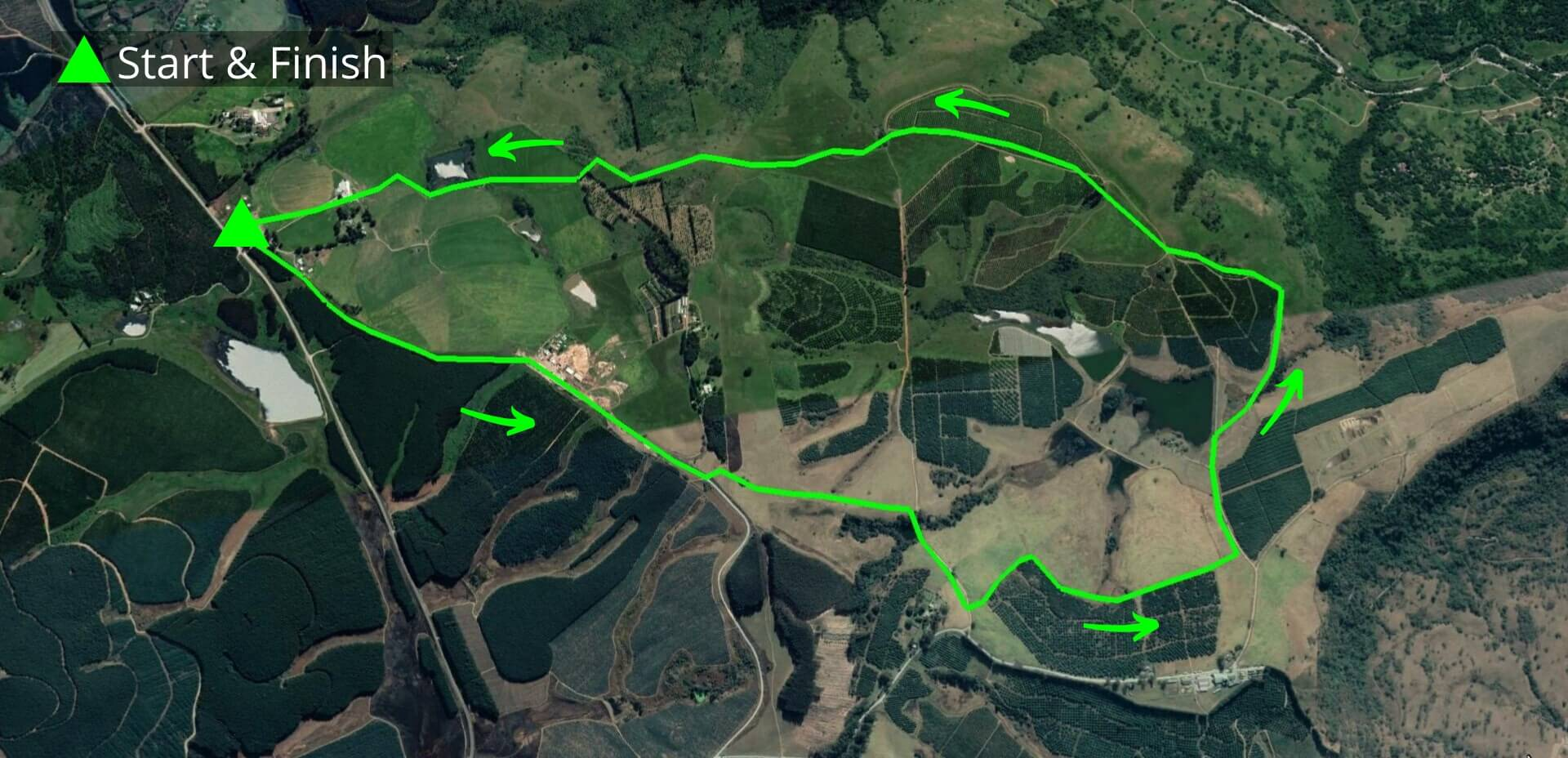 KZNTR Howick Trail Run Mar20 - 10km Course Route (Directioned)