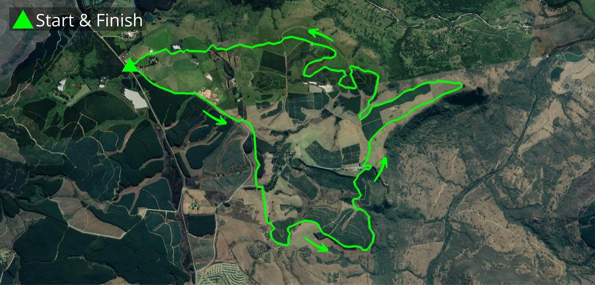 KZNTR Howick Trail Run Mar20 - 20km Course Route (Directioned)