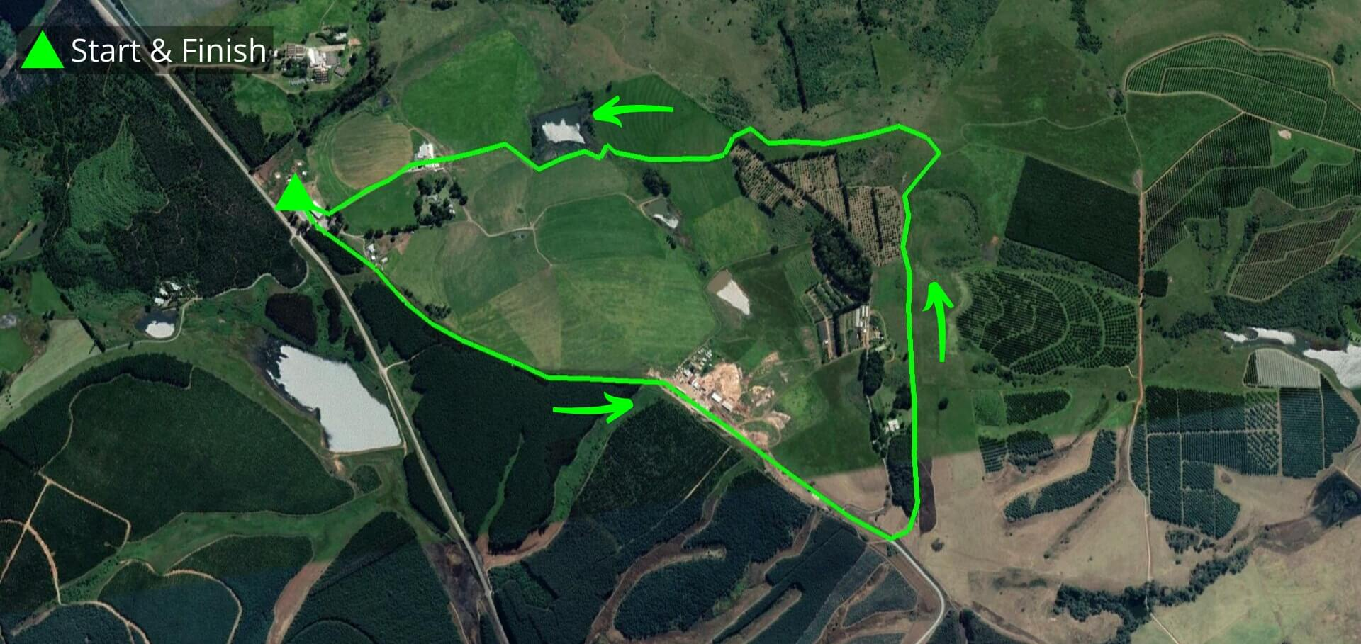 KZNTR Howick Trail Run Mar20 - 5km Course Route (Directioned)