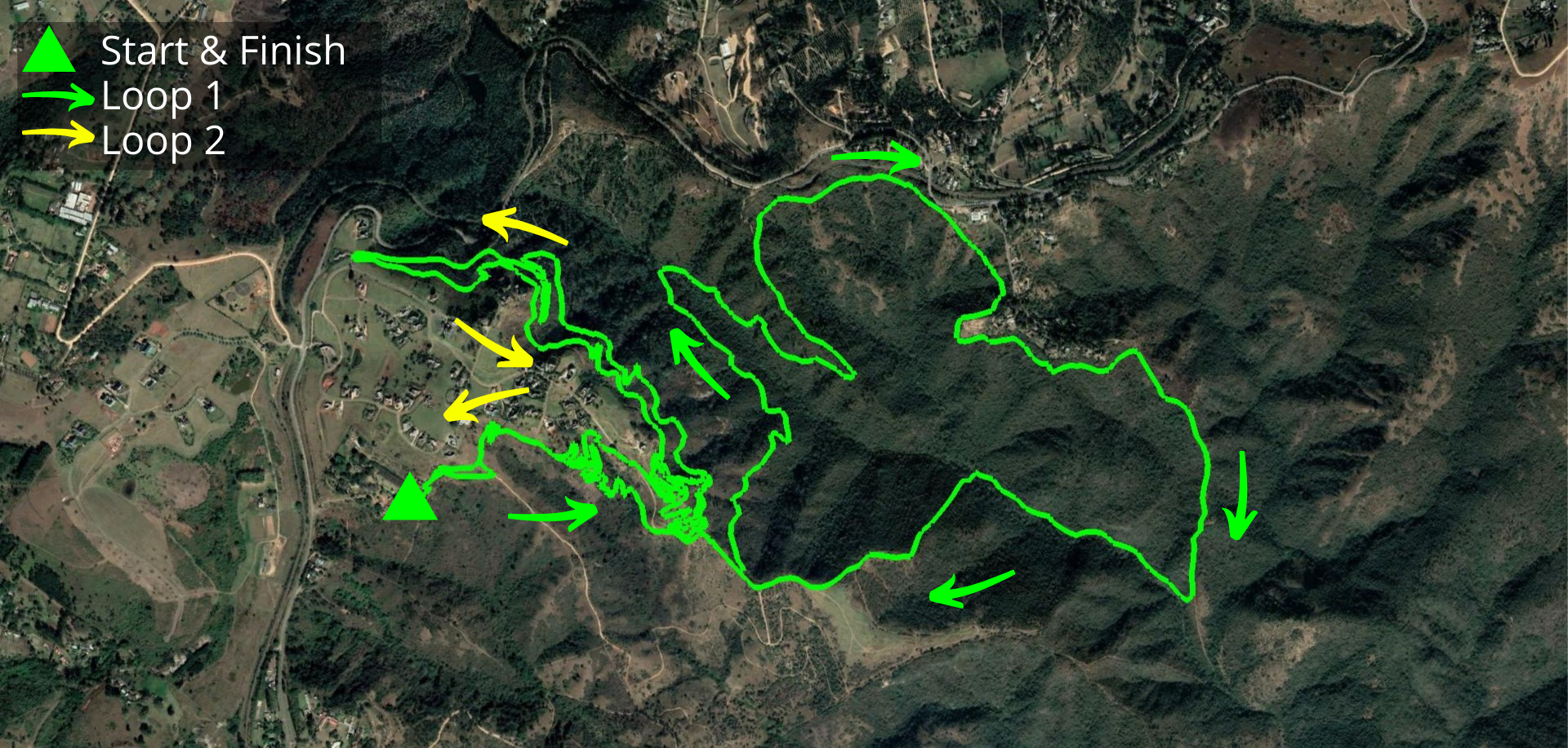 KZNTR PheZulu Trail Run Jun20 - 17 Course Route (Directioned)
