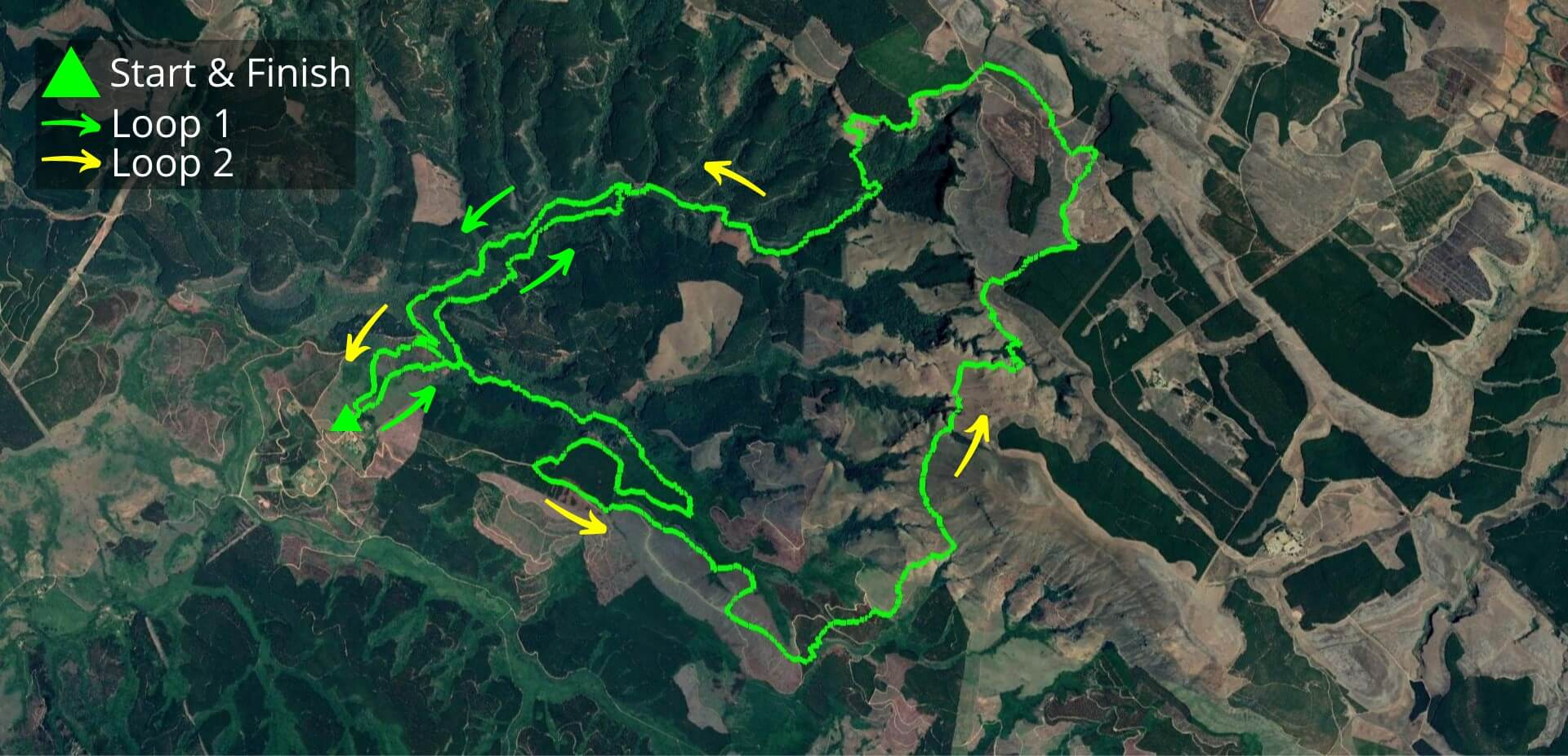 KZNTR Uitsoek Mountain Marathon Oct20 - 40km Course Route (Directioned)