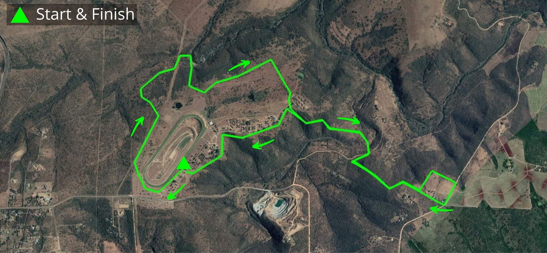 KZNTR Winter Series Dusi Trails May20 - 12km Course Route (Directioned)