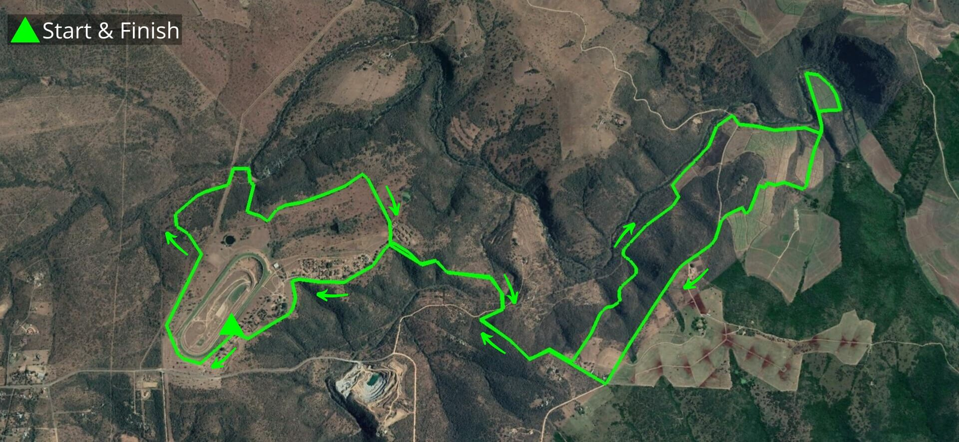 KZNTR Winter Series Dusi Trails May20 - 20km Course Route (Directioned)