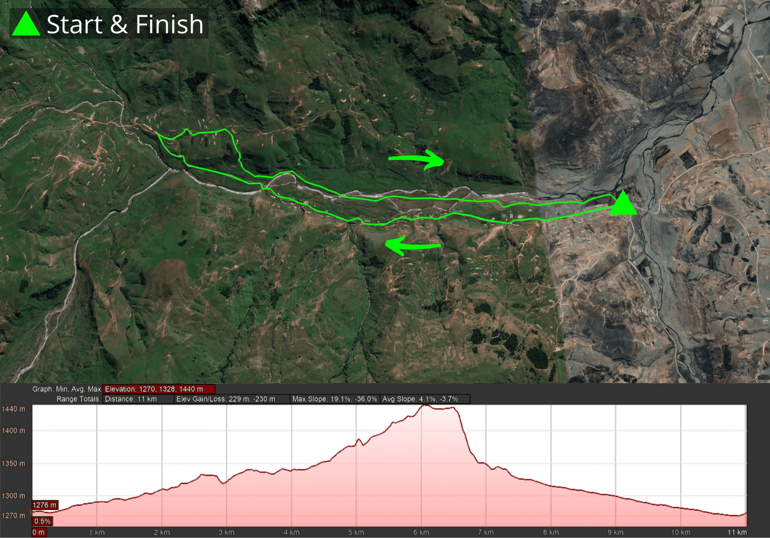 KZNTR Mnweni Mountain Marathon May21 - 10km Course 2021-04-23 V1