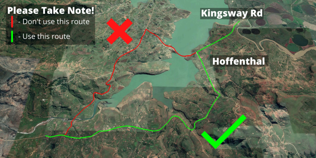 KZNTR Mnweni Mountain Marathon May21 - Alternate route (1)
