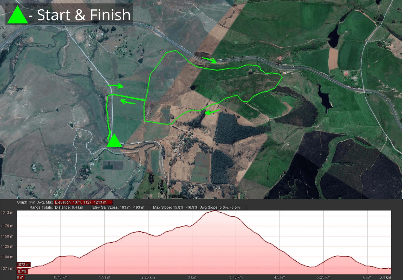 KZNTR Lions River Trail - 6km Course 2021-05-13 V1