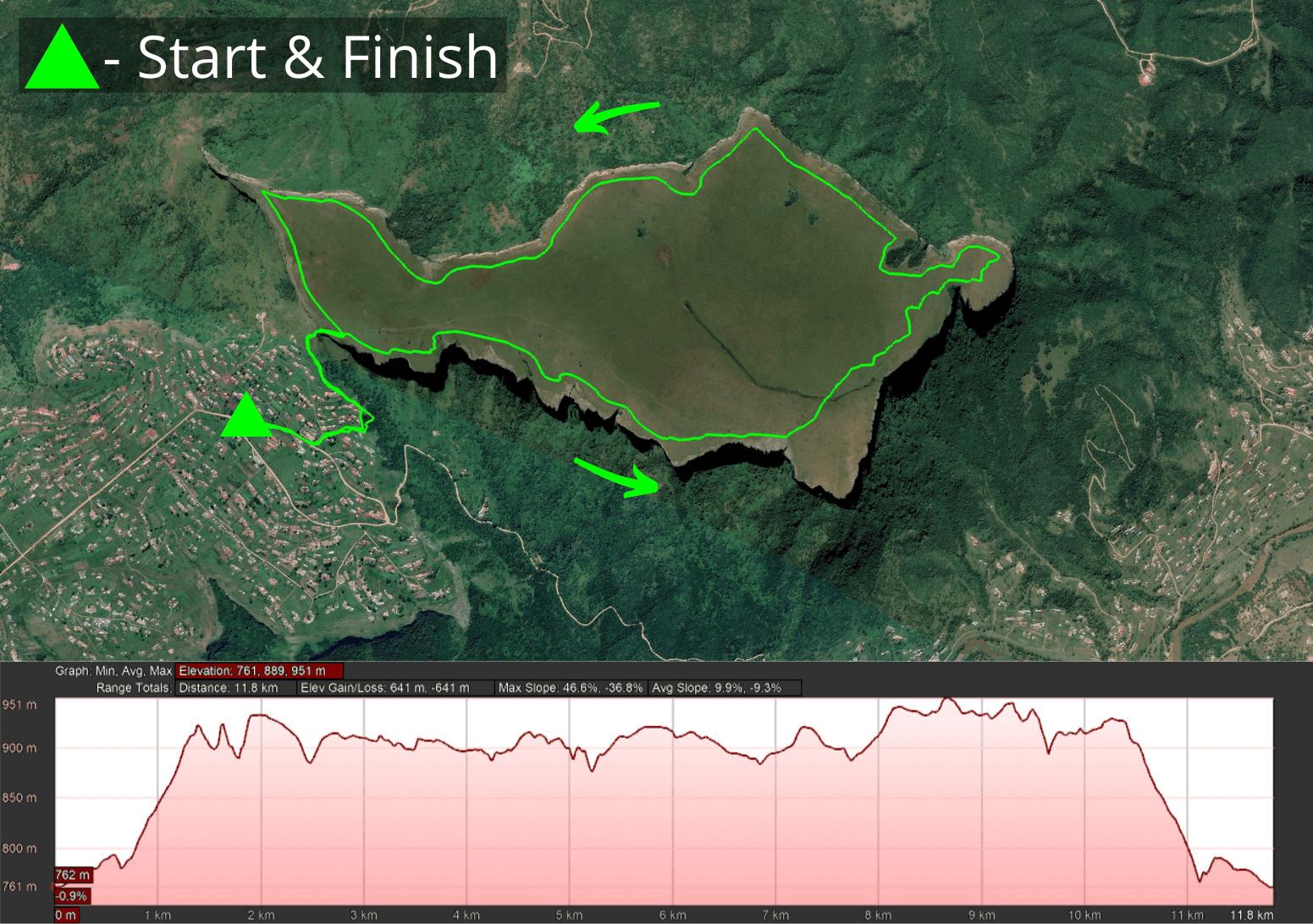 KZNTR Table Mountain Trail Run - 12km Course 2021-05-13 V1