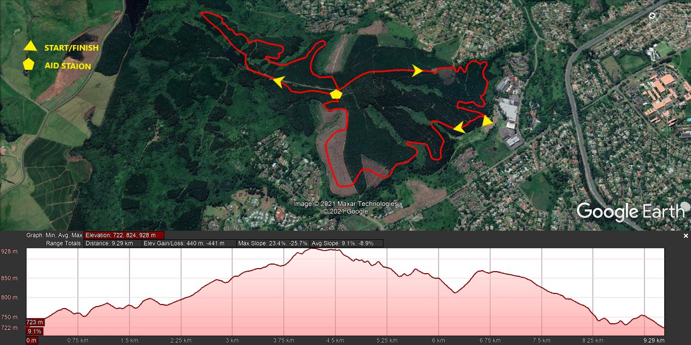 KZNTR SLF Run Sep21 - 10km Course